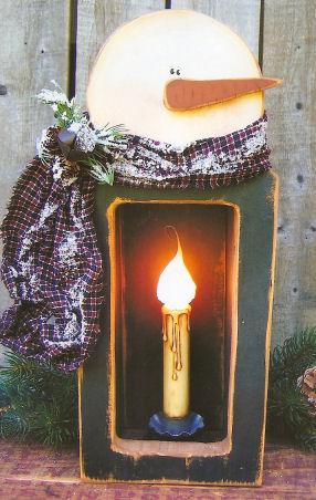 200034  Snowman Lantern (1)