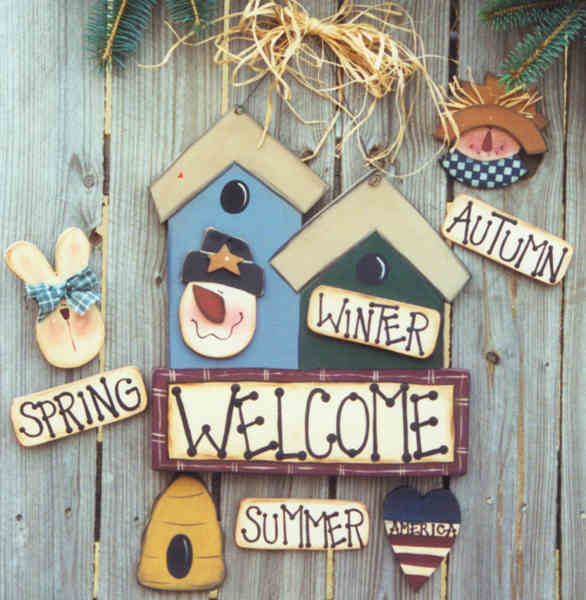 000183 (1) Seasonal Welcome Sign