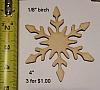 """Snowflake large  4""""   (3)"""