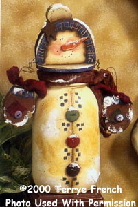 001117 (6) snowman Canning Jar Pieces