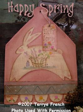000974 (3) Happy Spring Bunny Board