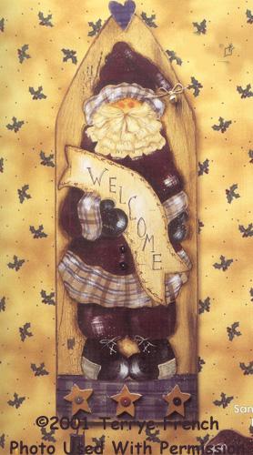 001069 (3) Santa Ironing Board Welcome