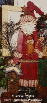 001010 (1) Merrie Olde Christmas Santa-Primitive santa, prims, santa, wood crafts, wood kits, unfinished wood, wood blanks, tole painting, decorative painting, wood, wood shop in wv, woodshop
