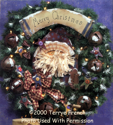 001054 (3) Merry Christmas Wreaths-Merry Christmas Wreath, Wreath, everygreen wreath, tole painting, decorative painting, wood crafts, wood kits, wood blanks, unfinished wood kits, unfinished wood