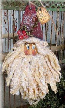 000567  (12) Sweet Muslin Santa Ornaments
