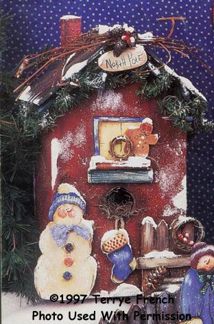 000610 (3) North Pole Birdhouses