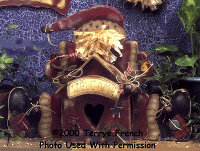 001124 (2) Santa Birdhouses