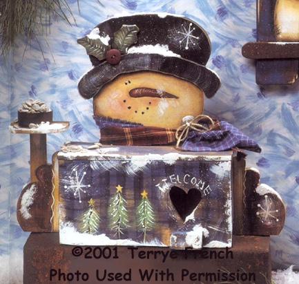 001075 (2) Snowman Birdhouse Feeders