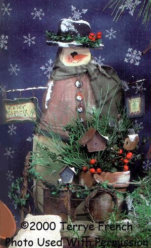 001020 (3) Frosty Winter Garden Snowmen
