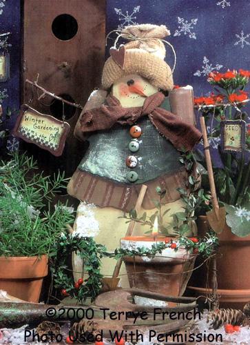 001056 (3) Winter Gardening Snowlady