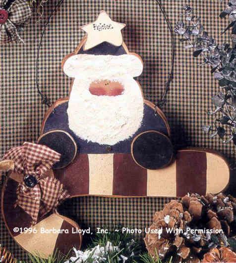 000145 (6) Candy Cane Santas