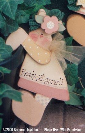 000068 (6) Flowerpot Bunnies Hanger