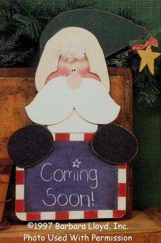 000756 (3) Chalkboard Santa