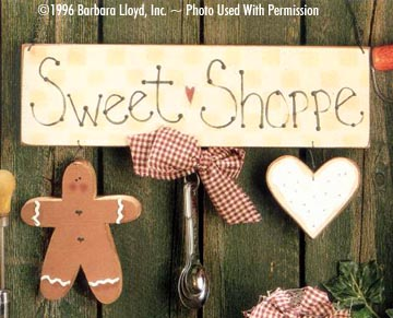 000131 (6) Sweet Shoppe Signs-Barbara Lloyd, country crafts, wood kits, wood parts, tole painting, wood, wood blanks, craft kits
