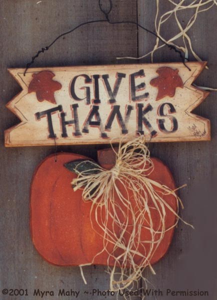 000103 (3) Give Thanks Sign