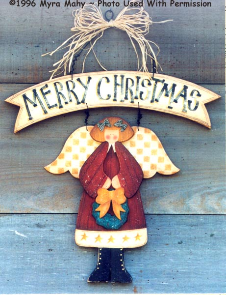 000114 (3) Merry Christmas Angel Signs