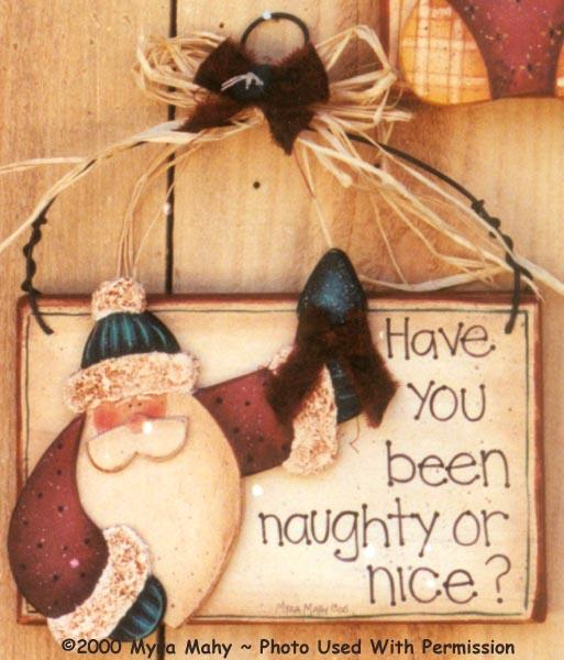 000112 (6) Naughty Or Nice Santa Signs