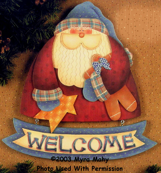 000644 (3) Santa Welcome Signs