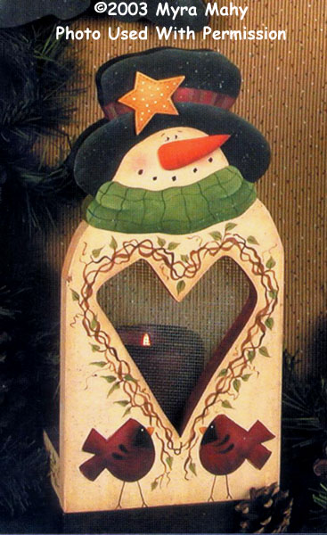 000650 (3) Snowman Candle Holder