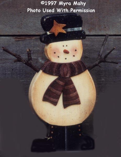 000153 (6) Snowmen w/Scarves