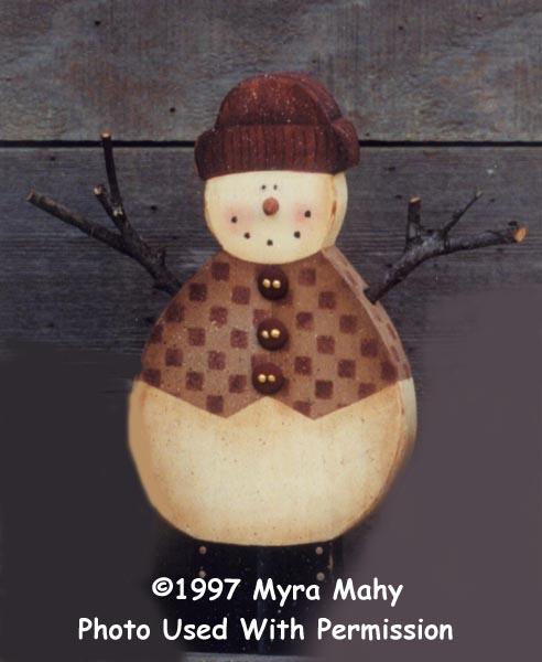 000154 (6) Snowmen w/Vests