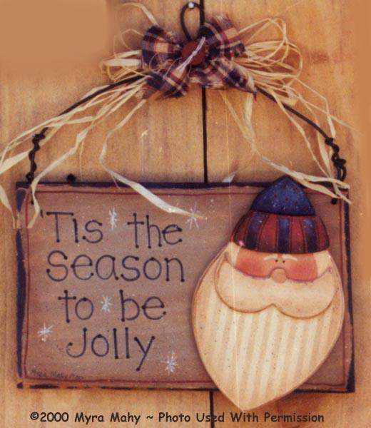 000113 (6) Jolly Santa Signs