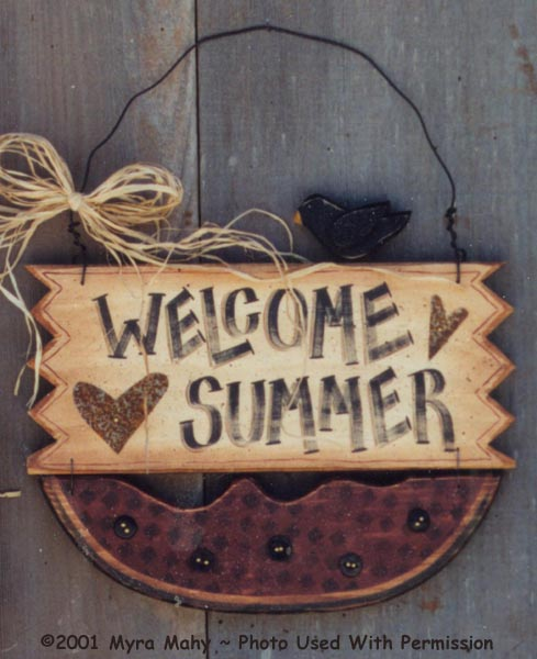 000105 (3) Welcome Summer Sign