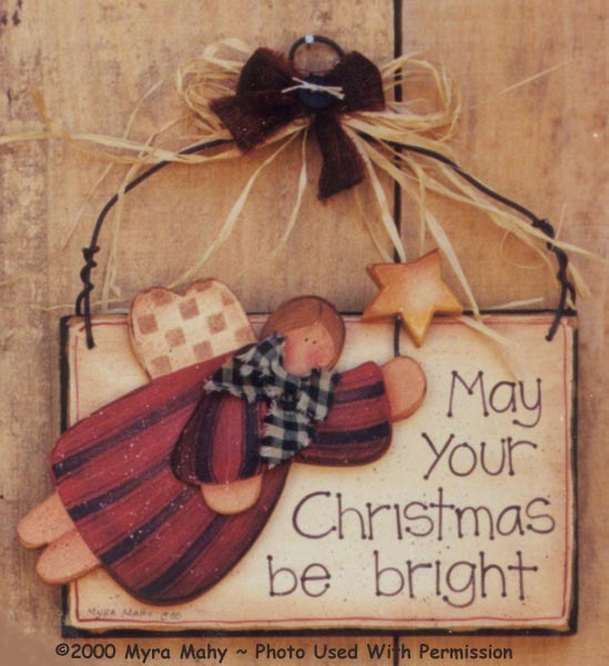 000110 (6) Christmas Bright Angel Signs