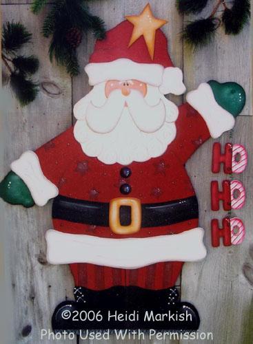 000750 (2) Santa Door Greeters