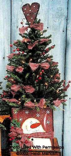 001175 (3) Decorative Tree Box Snowman