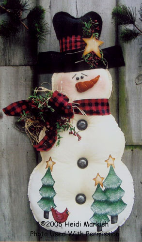 000747 (2) Snowman Wall Hangings
