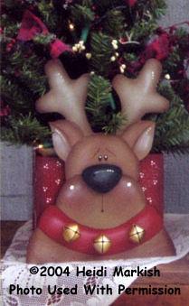 000616 (3) Reindeer Tree Boxes