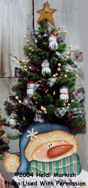 000614 (3) Snowman Tree Boxes