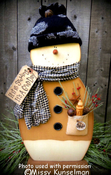 Bee'in Creative With Mis Best Wooden Snowman Patterns