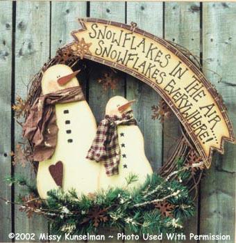 000044 (3) Snowflakes Wreaths
