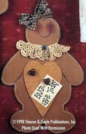 000046 (6) Gingerbread Memo Boards