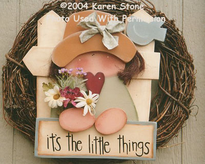 000136 (2) It's The Little Things-craft kits, crafts, wood kits, wood crafts, wood blanks, wood parts, tole painting, Karen Stone