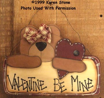000132 (6) Valentine Bear Sign