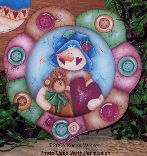 000852 (6) Snowman Heart-