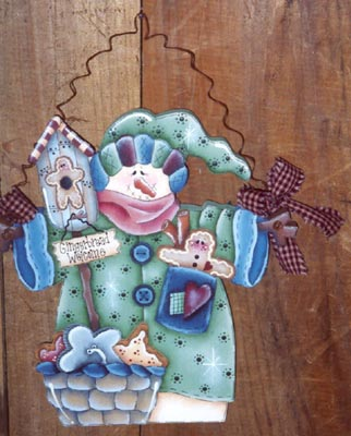 000279 (3) Gingerbread Welcome Snowmen-