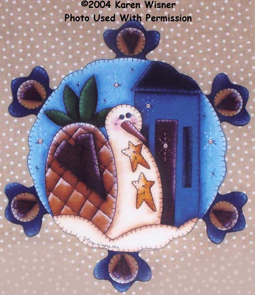 000527 Winter Penny Rug Plaques