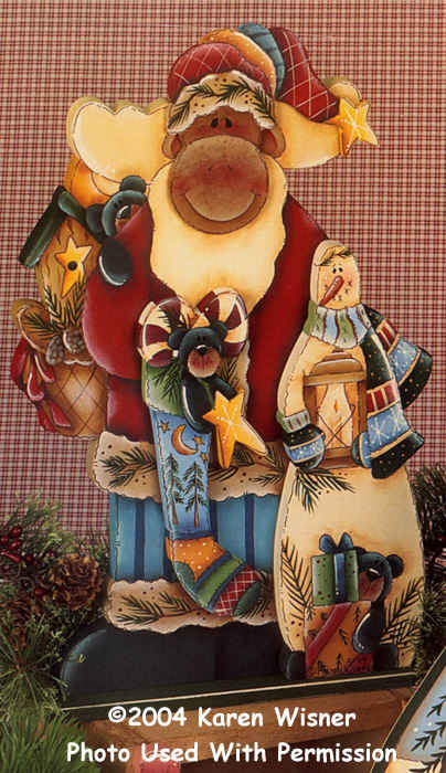 000487 (3) Santa Moose-santa, moose, christmas