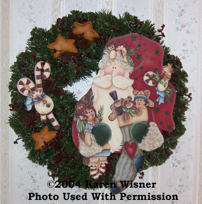 000470 (3) Santa Wreaths-Santa wreath, santa, wreath, home decor