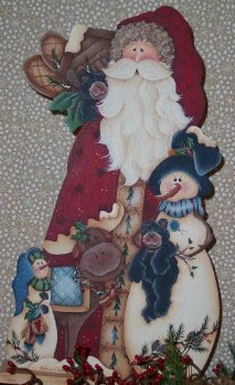 001114 (3) Woodland Santa-santa, woodland santa, wood quilt, moose, crafts, wood crafts, tolepainting, tole, tole painting, decorative painting, wood shop, wood shop in wv, wood shop in tn, wood blanks, wood, unfinished wood